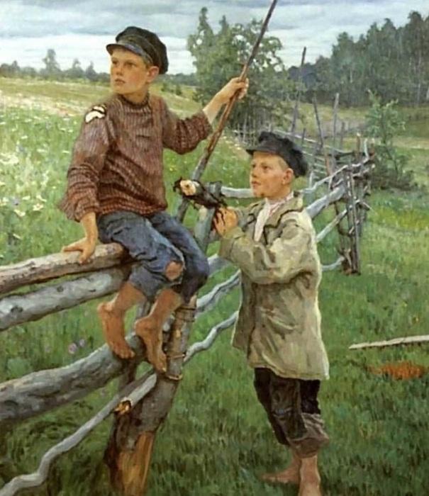 Деревенские мальчики. Автор: Николай Петрович Богданов-Бельский.