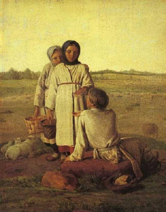Крестьянские дети в поле. (1820). Автор:Алексей Венецианов.