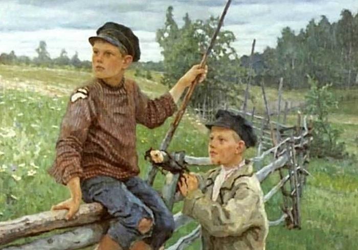Деревенские мальчики.(1936). Автор:Николай Петрович Богданов-Бельский