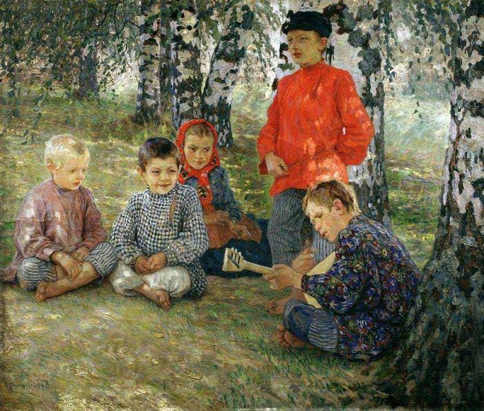 Виртуоз. (1891). Автор: Николай Петрович Богданов-Бельский.