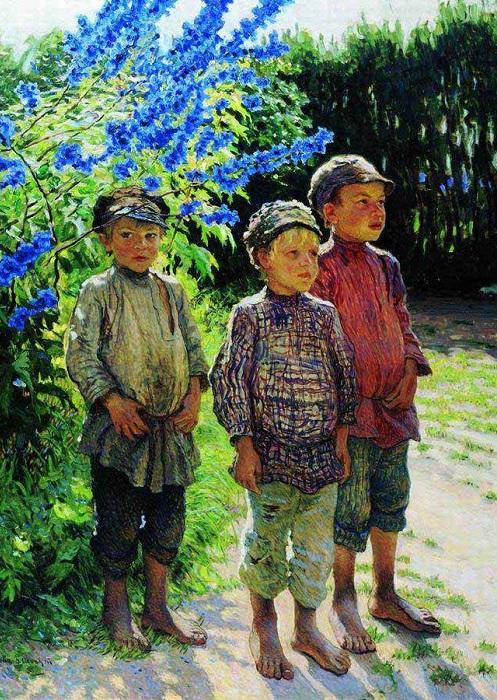 Крестьянские мальчики.(1910). Автор: Николай Петрович Богданов-Бельский.