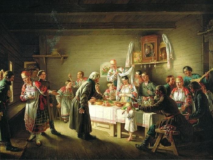 Крестьянская свадьба.