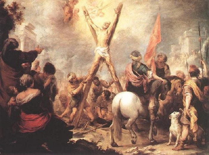 Мученичество Святого Андрея. Автор: Мурильо, Бартоломе Эстебан.