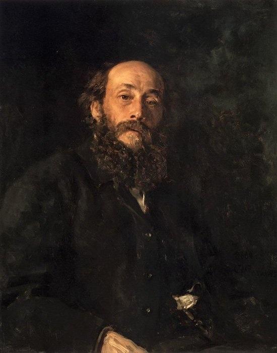 Портрет художника Н. Н. Ге.(1880). Автор: Илья Ефимович Репин.