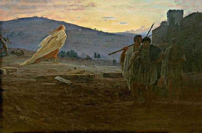 Вестники Воскресения. Мария Магдалина идет к усыпальнице Христа. (1867). Автор: Н.Н. Ге.
