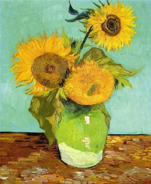 Винсент Ван Гог, «Подсолнухи».(1888).
