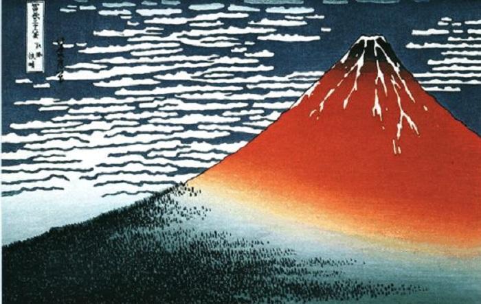 Кацусика Хокусай, «Южный ветер, ясный день».(1832).