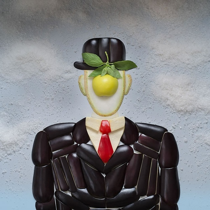 Рене Магритт, «Сын человеческий». Художественный проект от Татьяны Шкондиной.