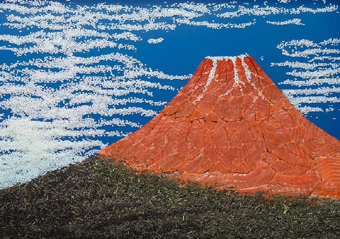 Кацусика Хокусай, «Южный ветер, ясный день».  Художественный проект от Татьяны Шкондиной.