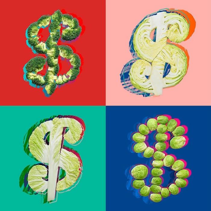 Энди Уорхол, «Знак доллара». Художественный проект от Татьяны Шкондиной.