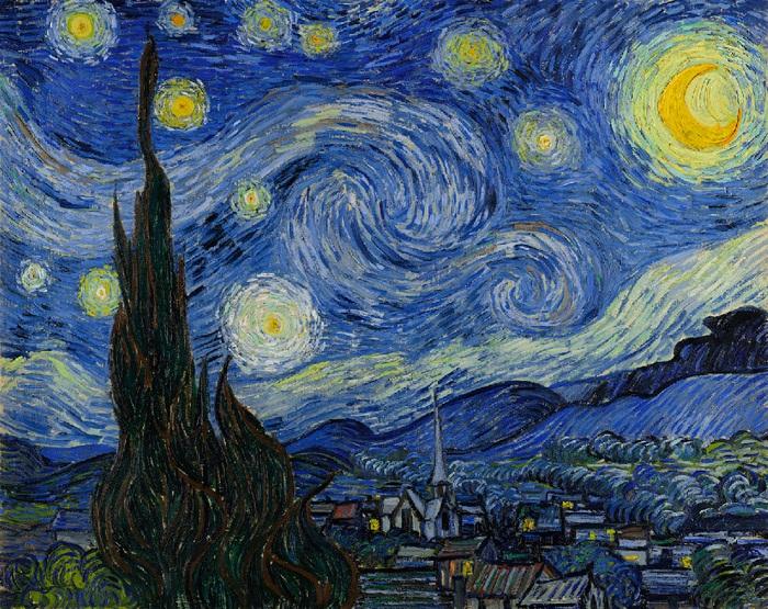 Винсент Ван Гог, «Звездная ночь». (1889).