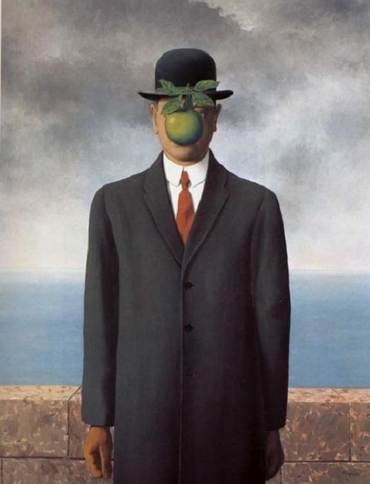 Рене Магритт. «Сын человеческий». (1964).
