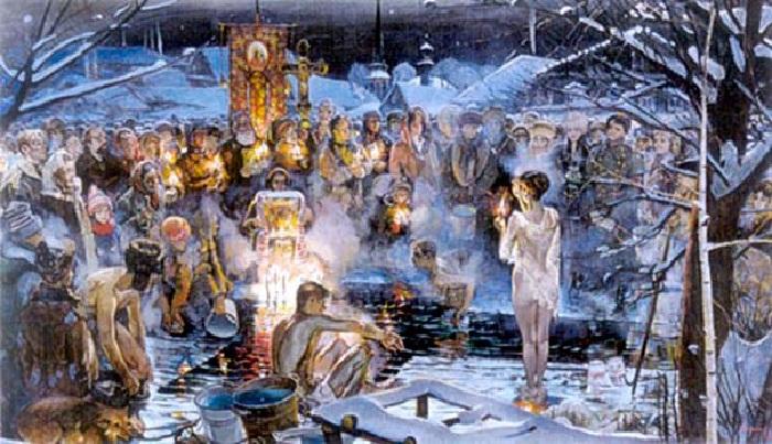 В. В. Сизов. В крещенскую ночь.
