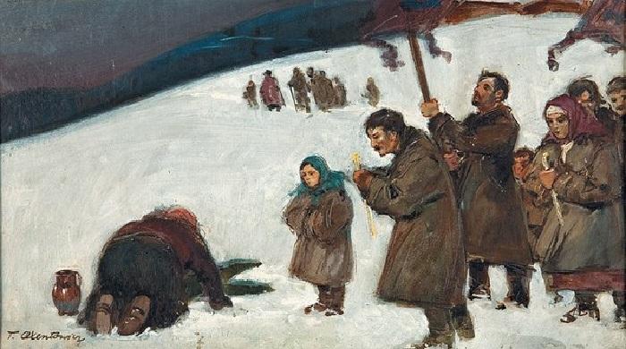 Т. Аксентович. Водосвятие, конец XIX века