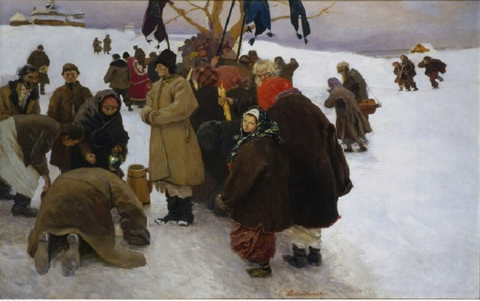 Теодор Аксентович. Swieto Jordanu 1893 г
