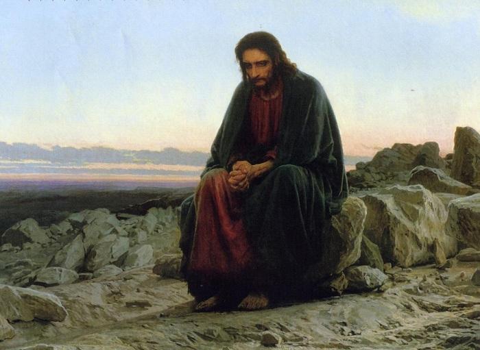 Художник Иван Крамской. Христос в пустыне. (1872).