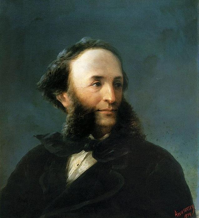 Автопортрет И. Айвазовского (1874), Уффици. Автор. И.К.Айвазовский.