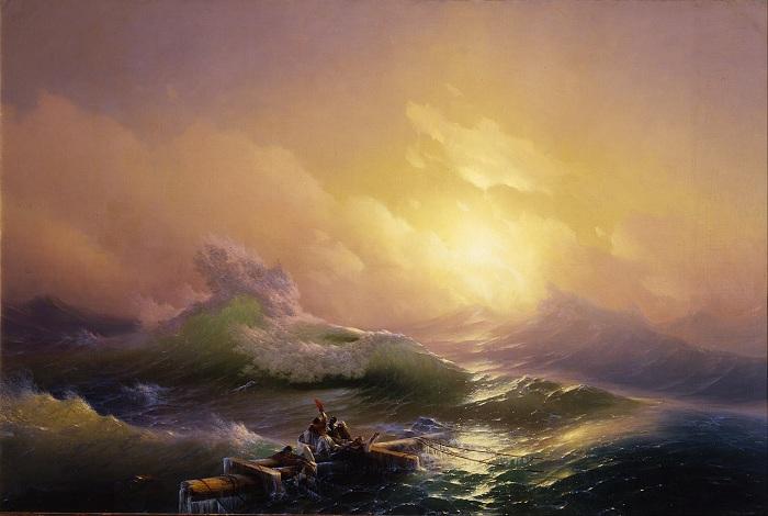И. К. Айвазовский. Девятый вал. 1850. Автор. И.К.Айвазовский.