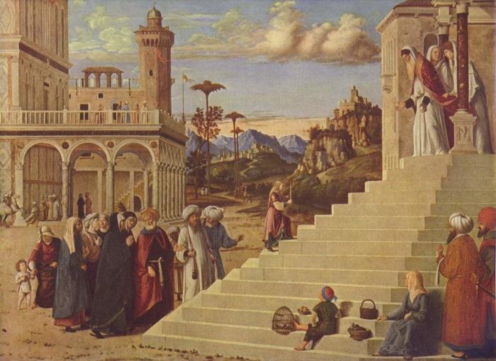 Чима да Конельяно. Введение Марии во храм. 1496-1497