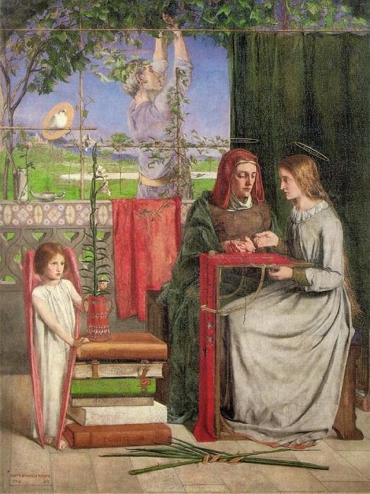 «Юность девы Марии». Автор: Данте Габриэль Россетти.