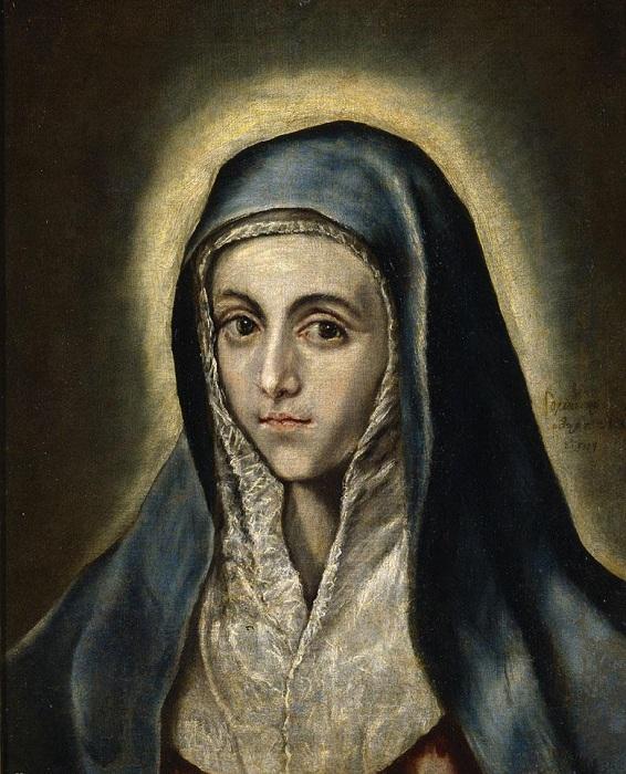 Дева Мария. Автор: Эль Греко.