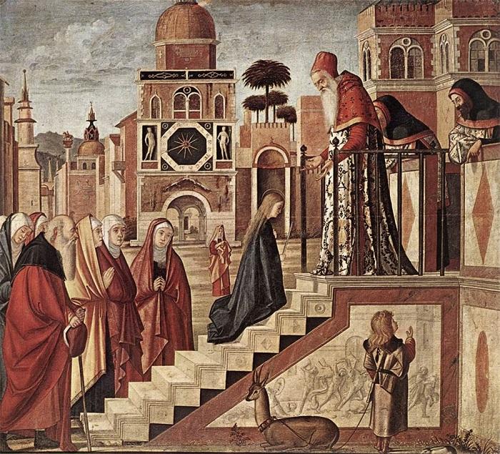 Витторе Карпаччо. Введение Богородицы во храм.