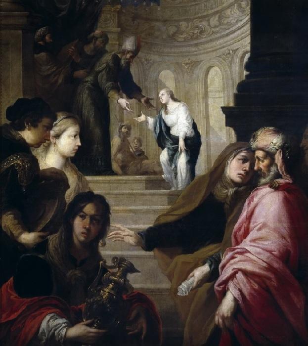 Хуан Ромеро. Введение Богородицы во храм. 1670
