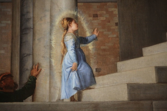 Тициан Вечеллио. Введение Марии во храм. 1485-1490. Фрагмент.