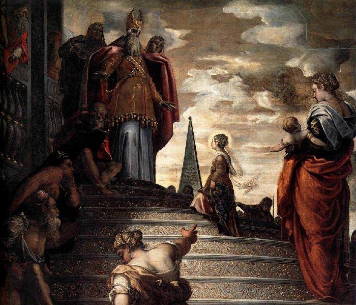 Якопо Тинторетто. Фреска церкви Санта Мария дель Орто. 1555 г. Венеция. Италия.