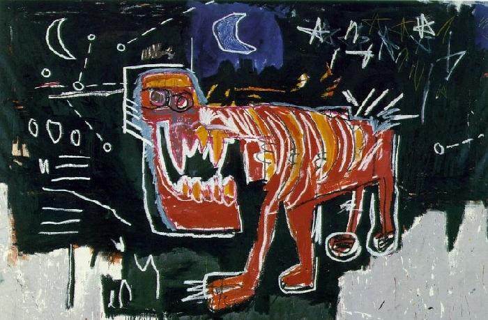 Собака. (1982). Автор: Жан-Мишель Баския.
