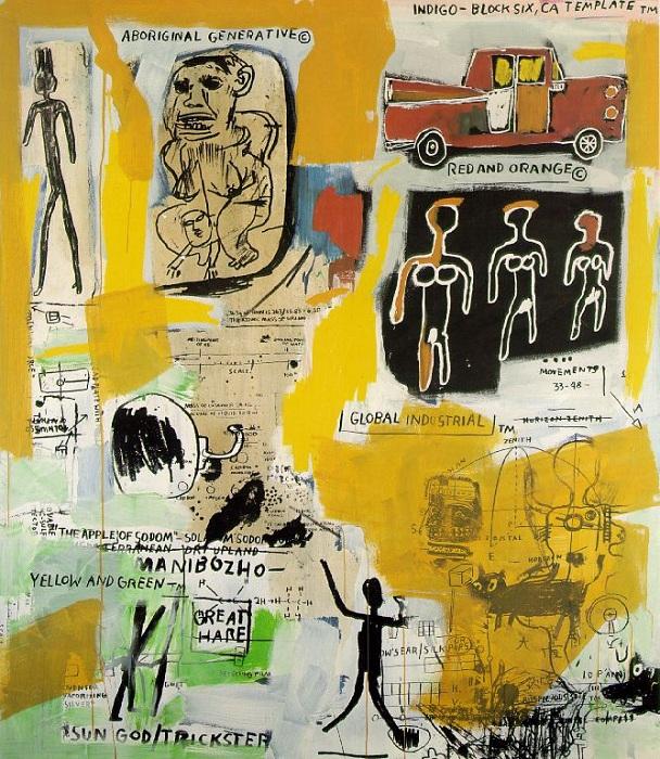 Абориген. (1984). Автор: Жан-Мишель Баския.