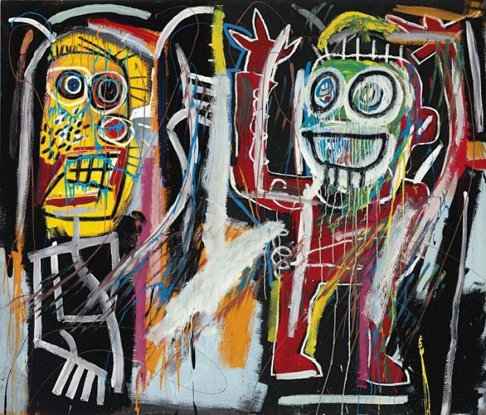 Задурманенные головы. (1982). Автор: Жан-Мишель Баския.