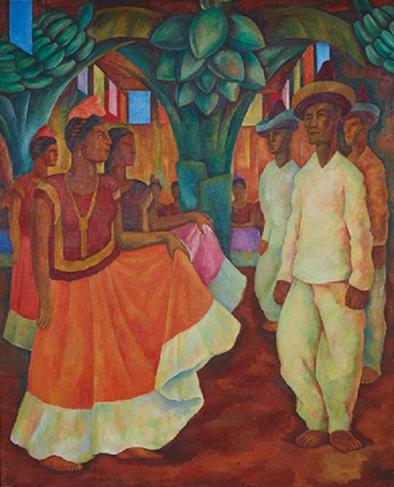 «Танец в Теуантепеке». Автор: Диего Ривера.