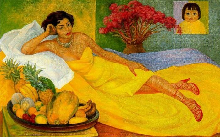 Портрет миссис Донны Елены Флорес де Каррилло. 1953. Автор: Диего Ривера.