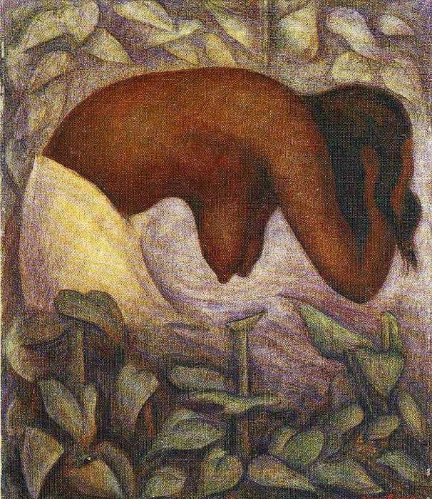 Купальщика Теуантепека. 1923. Автор: Диего Ривера.