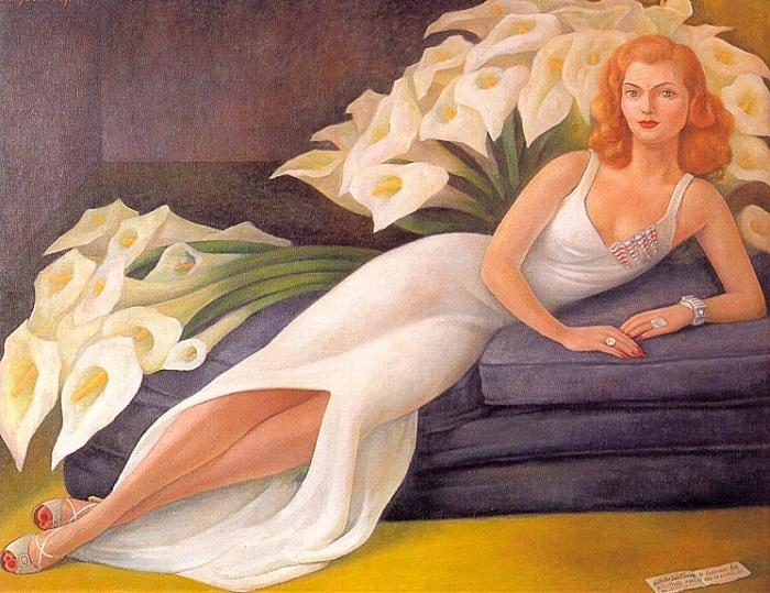 Портрет Наташи Заколковой Гельман. 1943. Автор: Диего Ривера.