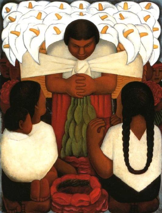 Праздник цветов. 1925. Автор: Диего Ривера.