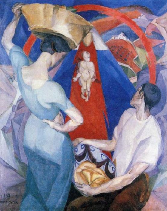 Поклонение Богоматери. 1913.