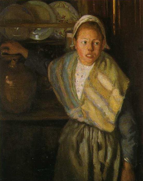 Бретонская девочка. 1910. Автор: Диего Ривера.