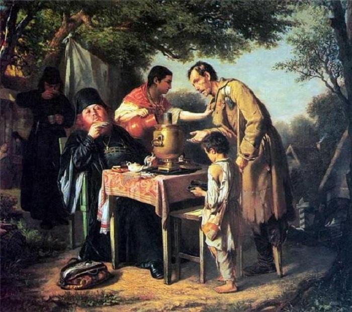 Чаепитие в МытищаÑ, близ Москвы. Автор: Перов В.Г.