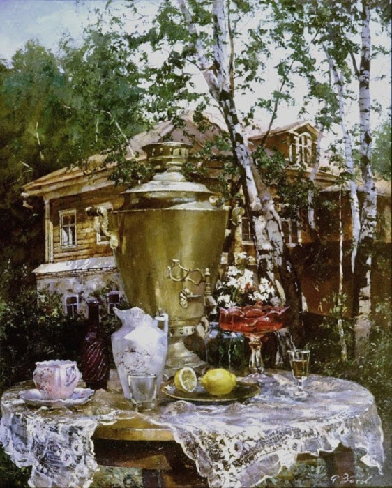На даче. Автор: Алексей Сергеевич Зотов.
