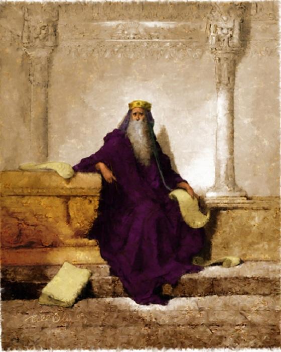 Царь Соломон в преклонных годах. Автор: Гюстав Доре