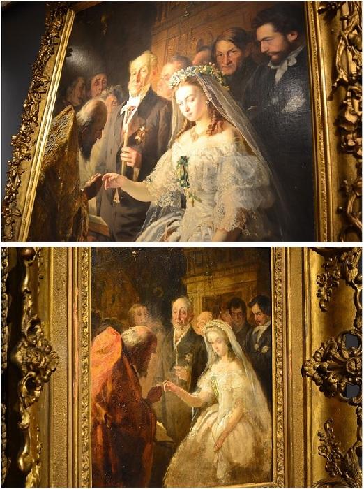 Картина «Неравный брак». / Эскиз «Неравный брак». Автор: В.В. Пукирев.