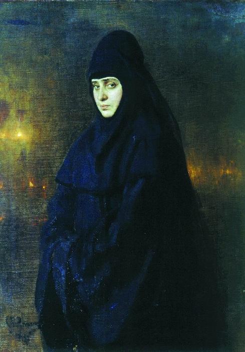 Монахиня», 1887. Киевский национальный музей русского искусства. Автор: И.Е. Репин.