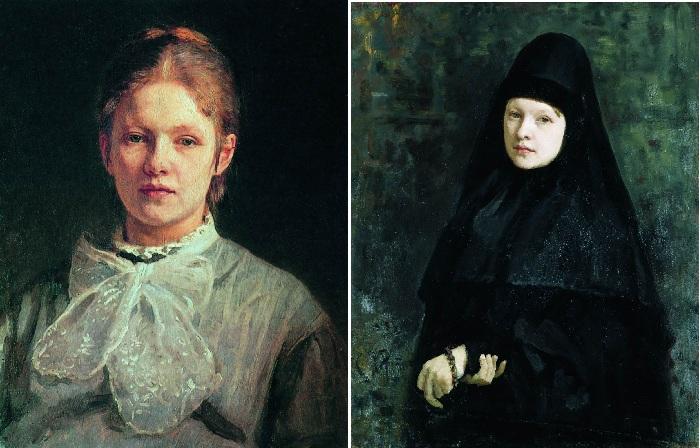«Портрет Софьи Алексеевны Репиной». / «Монахиня». (1878). Автор:  И.Е.Репин.