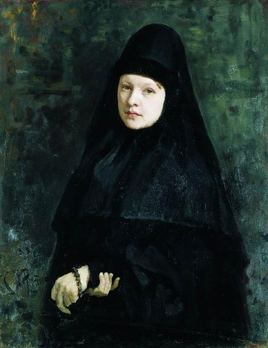 «Монахиня»(1878). Государственная Третьяковская галерея. Автор: И.Е.Репин.