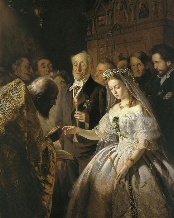 «Неравный брак». Государственная Третьяковская галерея. Автор: В.В. Пукирев.