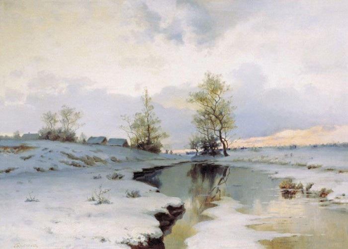 «Начало весны». 1890-е. Автор: Ендогуров Иван Иванович.