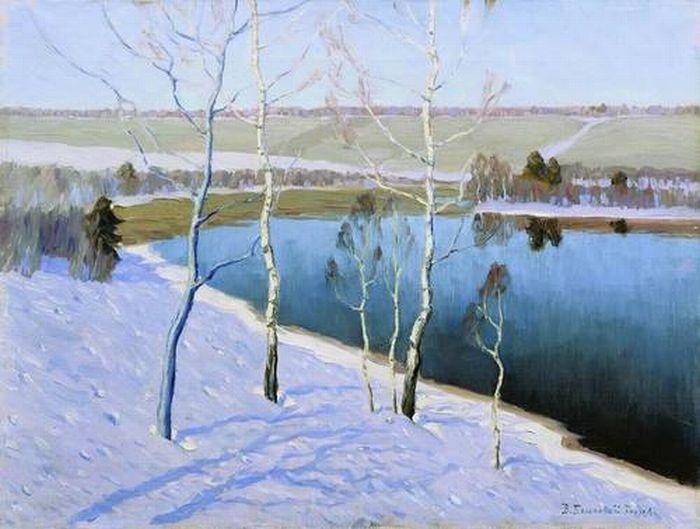 «Ранняя весна». (1953). Автор: Бялыницкий-Бируля В. К.