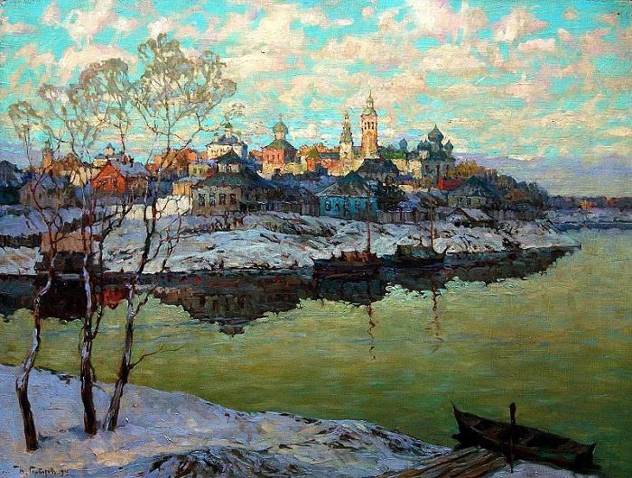 «Ранняя весна. Город на реке». Автор: Константин Горбатов.